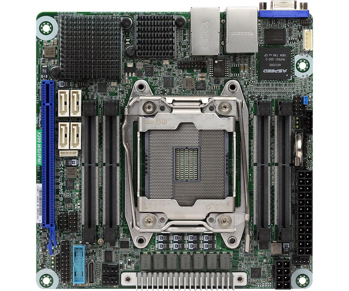ASRock X299 WSI/IPMI - Intel - LGA 2066 - LGA 2066 - DDR4-SDRAM - SO-DIMM - 2133,2400,2666 MHz