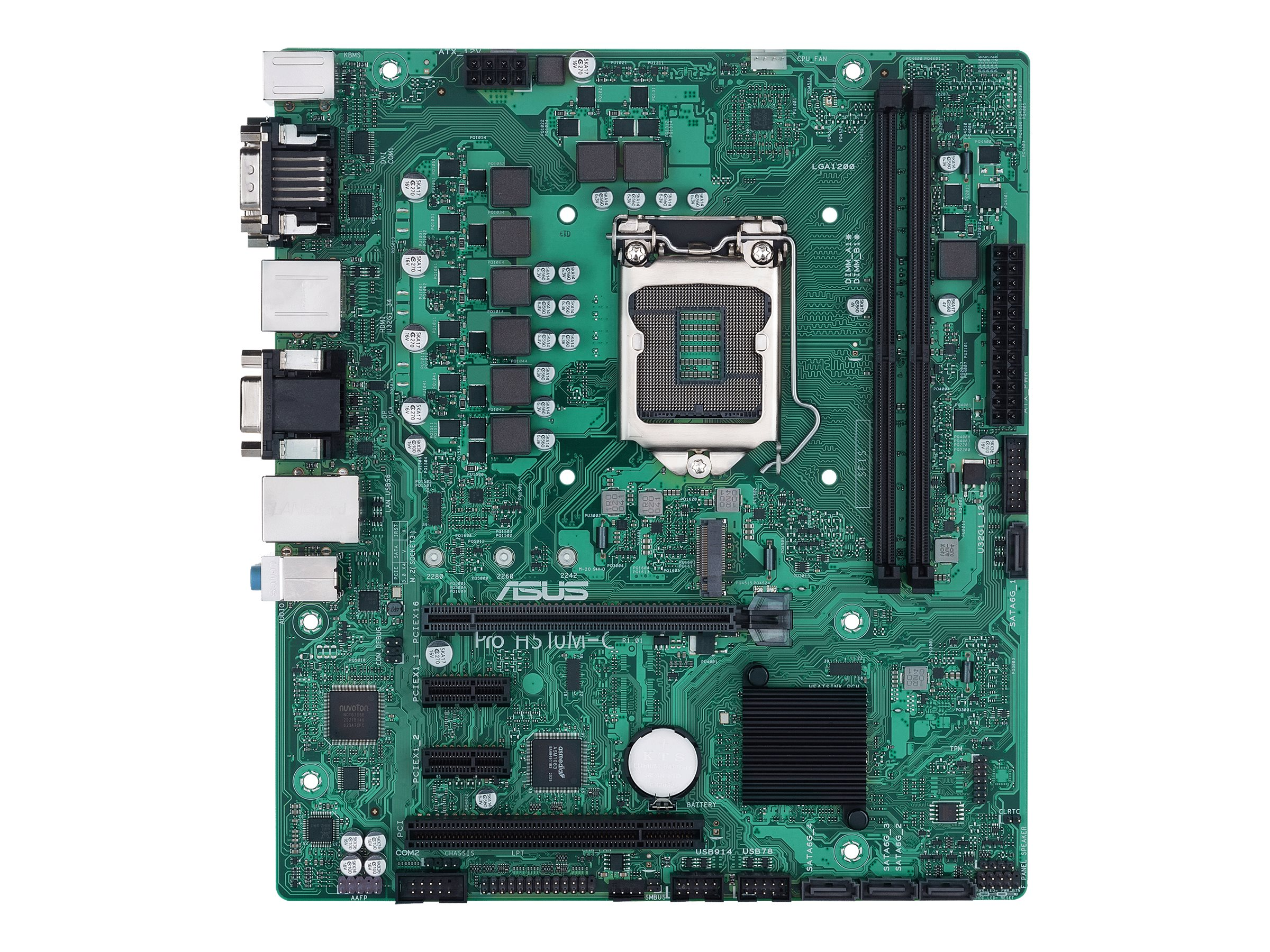 Vorschau: ASUS Pro H510M-C/CSM - Motherboard - micro ATX - LGA1200-Sockel - H510 - USB 3.2 Gen 1 - Gigabit LAN - Onboard-Grafik (CPU erforderlich)