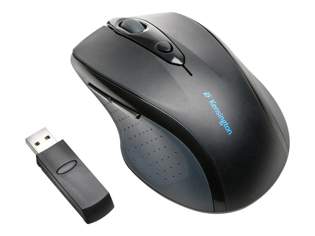 Kensington Pro Fit Full-Size - Maus - Für Rechtshänder - optisch - 6 Tasten - kabellos - 2.4 GHz - kabelloser Empfänger (USB)