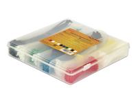 Kabelbinder Sortimentsbox - Kabelbinder-Kit - Schwarz, weiß, Blau, Gelb, Rot, grün