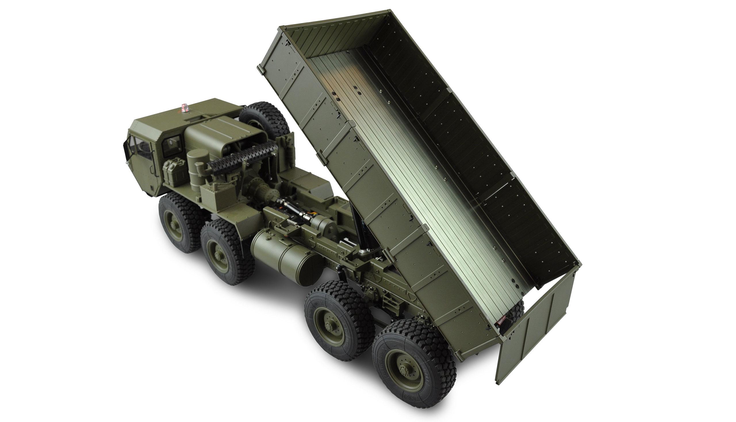 Amewi U.S. Militär Truck 8x8 - Radio-Controlled (RC) truck - Elektromotor - 1:12 - Betriebsbereit (RTR) - Grün - Junge/Mädchen