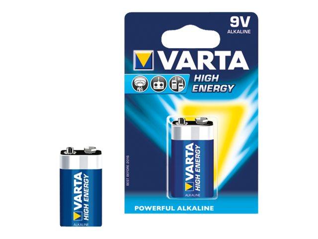 Varta High Energy - Batterie 9V - Alkalisch