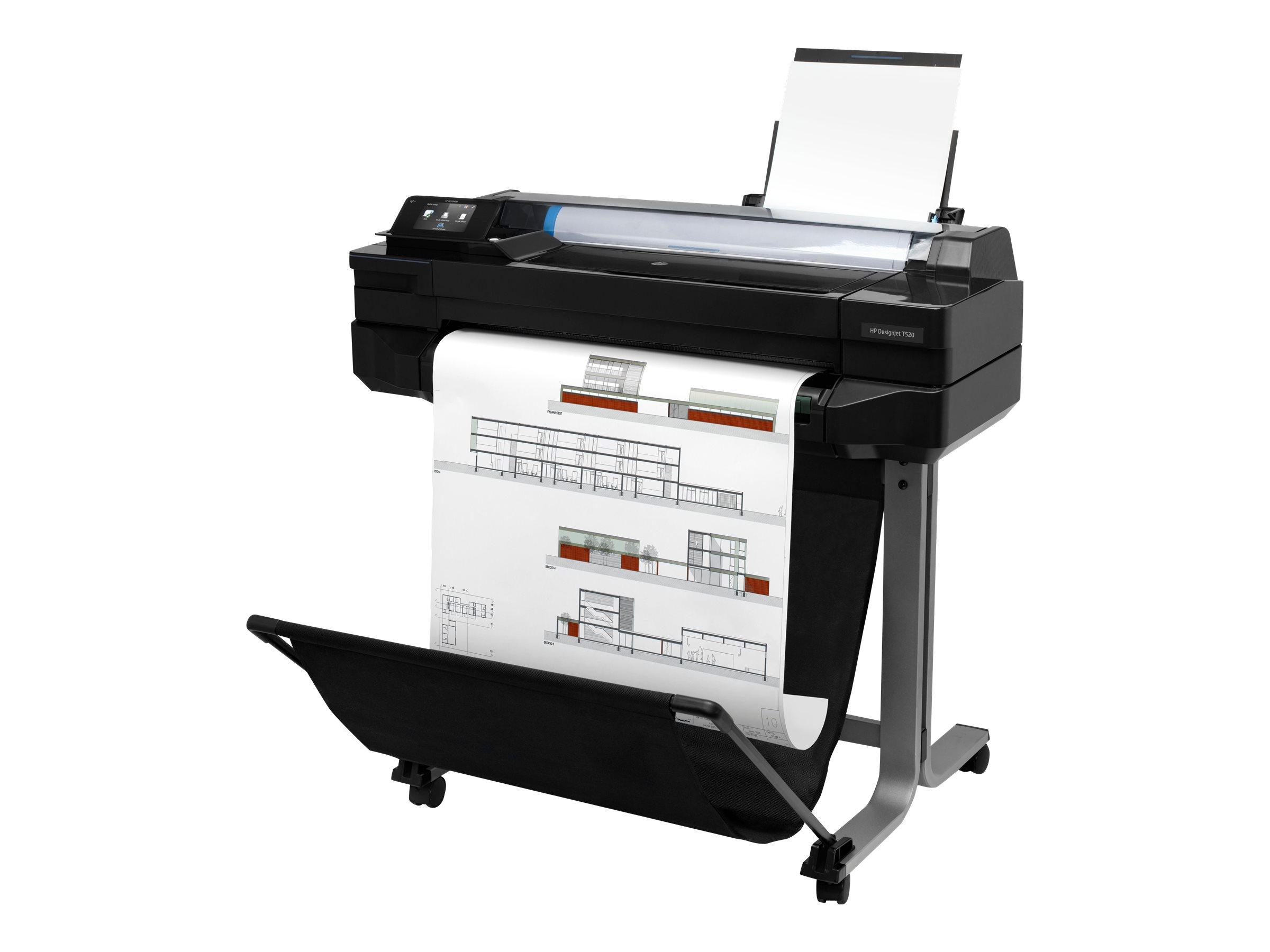 "HP DesignJet T520 - 610 mm (24"") Gro?formatdrucker - Farbe - Tintenstrahl - Rolle (61 cm x 45,7 m)"