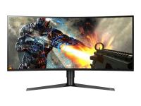 34GK950G-B Computerbildschirm 86,4 cm (34 Zoll) UltraWide Quad HD LED Gebogen Matt Schwarz - Rot