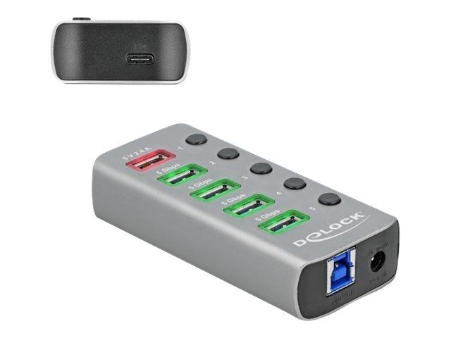 Vorschau: Delock Hub - 4 x USB 3.2 Gen 1 - Desktop