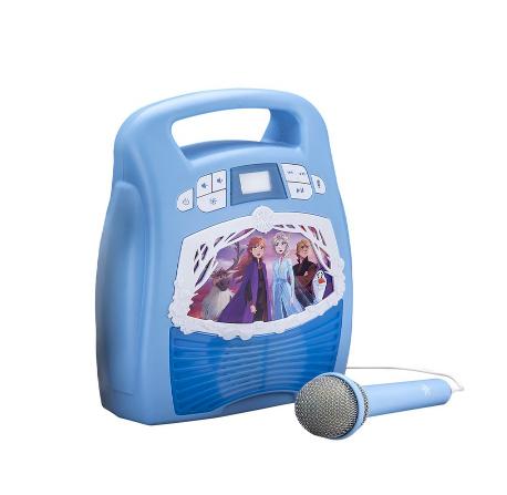 eKids Frozen 2 MP3 Karaoke With Light Show - Spielzeug-Karaoke-Set - Blau - Junge/Mädchen - Frozen 2 - Rechteck - Tasten