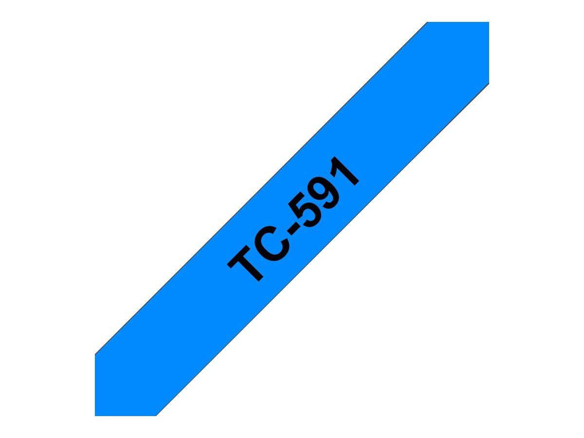 Brother TC591 - 9 mm x Schwarz auf Blau