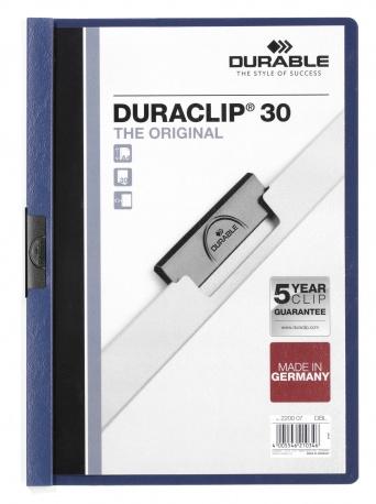 Durable 220007 - Klemm-Mappe - A4 - Transparent - dunkel blau