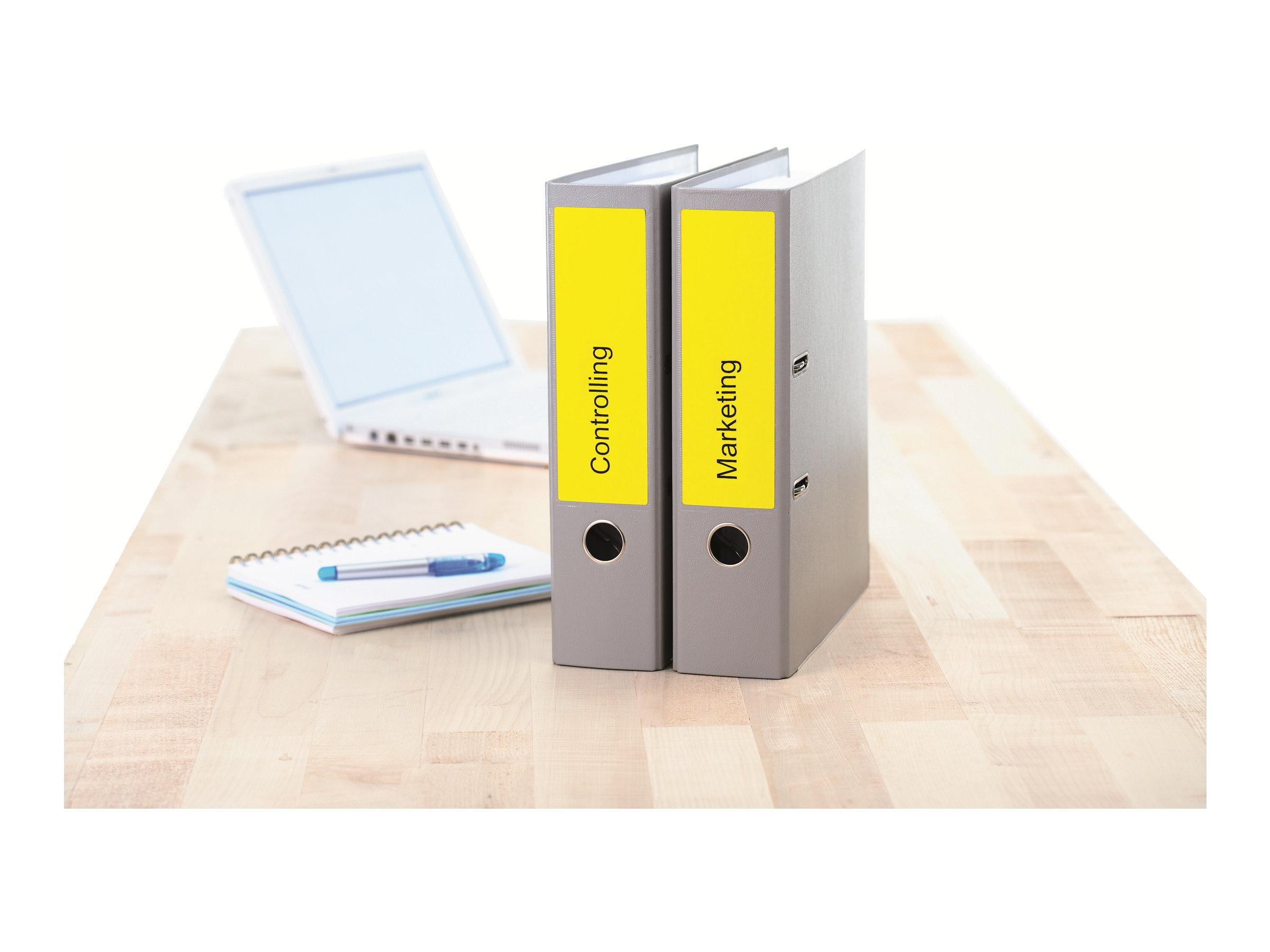 HERMA Special - Papier - matt - permanent selbstklebend - Gelb - 192 x 61 mm 400 Etikett(en) (100 Bogen x 4)