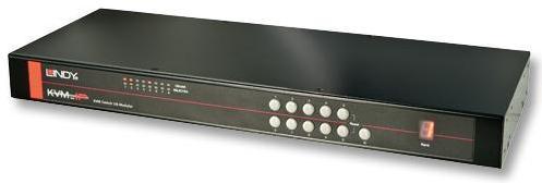 Lindy KVM Switch U8 - 8 Port mit Dual Console Access für over IP oder Cat.5