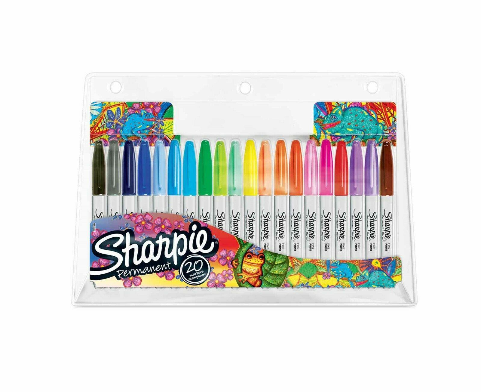 Sharpie Fine - 20 Stück(e) - Mehrfarben - Feine Spitze - Grau - Mehrfarben - Rund - Fein
