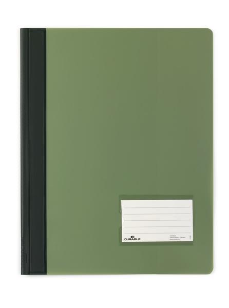 Durable Schnellhefter transluzent - A4 - PVC - Grün - Porträt - 57 x 90 mm - 1 Stück(e)