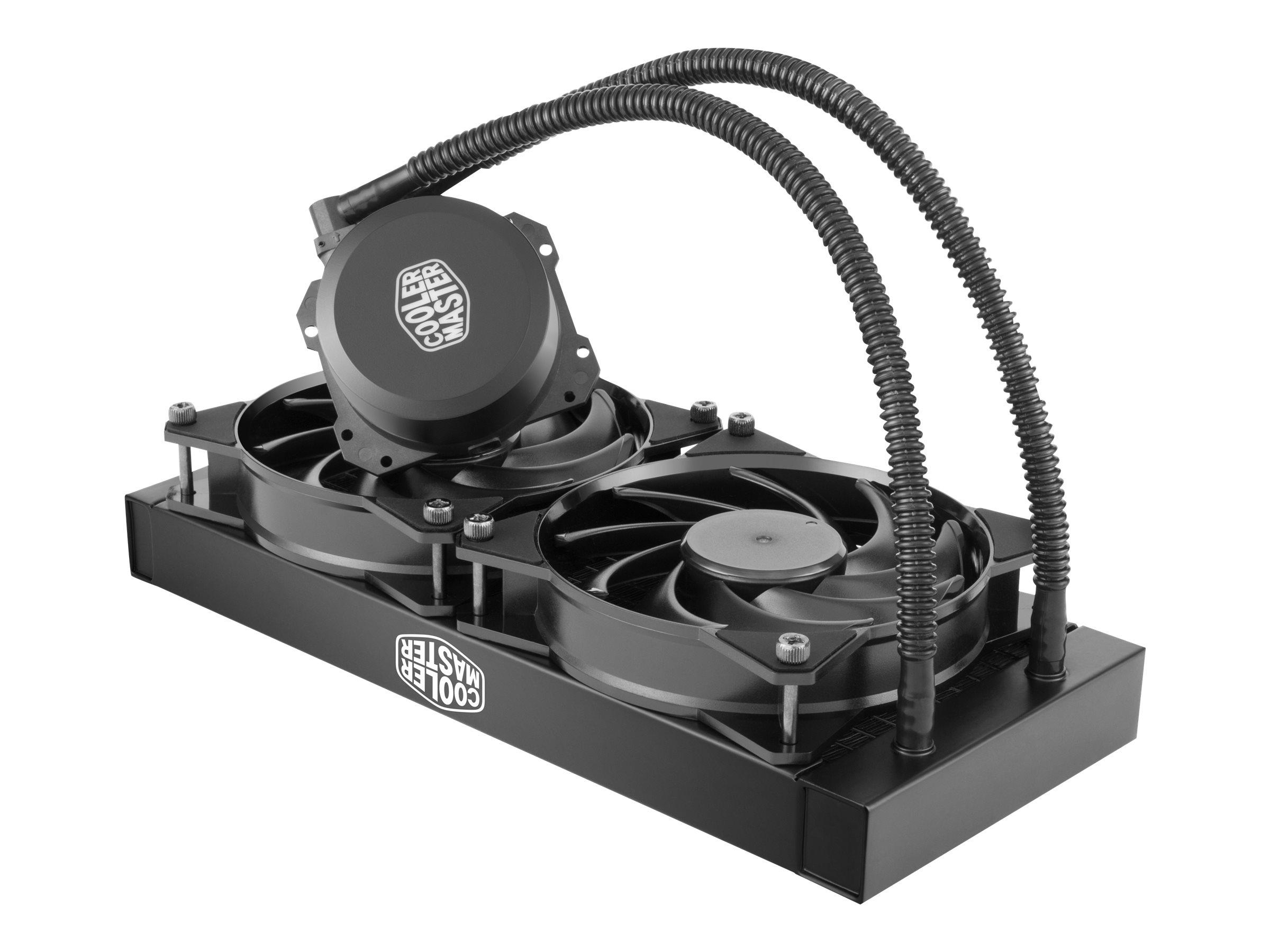 Cooler Master MasterLiquid Lite 240 - Prozessor-Flüssigkeitskühlsystem - (für: LGA775, LGA1156, AM2, AM2+, LGA1366, AM3, LGA1155, AM3+, LGA2011, FM1, FM2, LGA1150, FM2+, LGA2011-3, LGA1151, AM4, LGA2066)