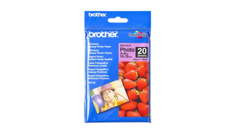 Brother 10 cm x 15 cm Glanzpapier