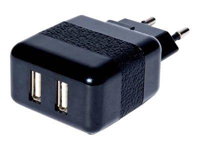 Conceptronic CUSBPWR2A USB Tablet Charger 2A - Netzteil - 2000 mA - 2 Ausgabeanschlussstellen (USB)