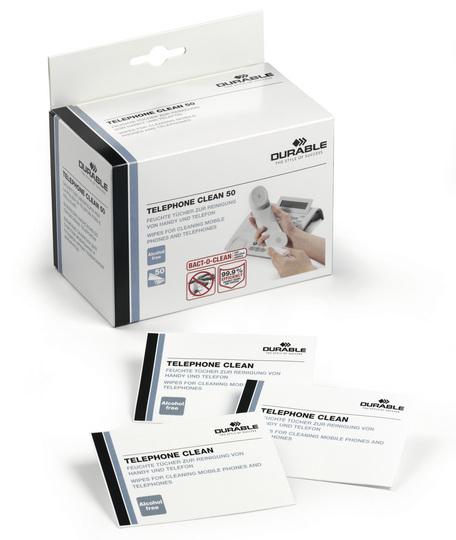 Durable 5785 - Gerätereinigungs-Feuchttücher - Bildschirme/Kunststoffe - Weiß - 50 Stück(e)