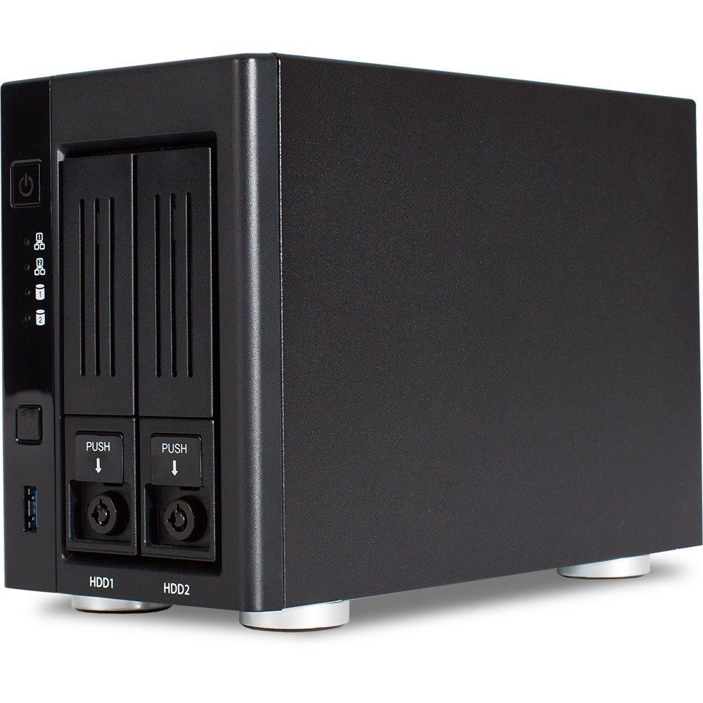 Wortmann TERRA NASBOX 2-2004 Speicherserver Desktop Eingebauter Ethernet-Anschluss Schwarz