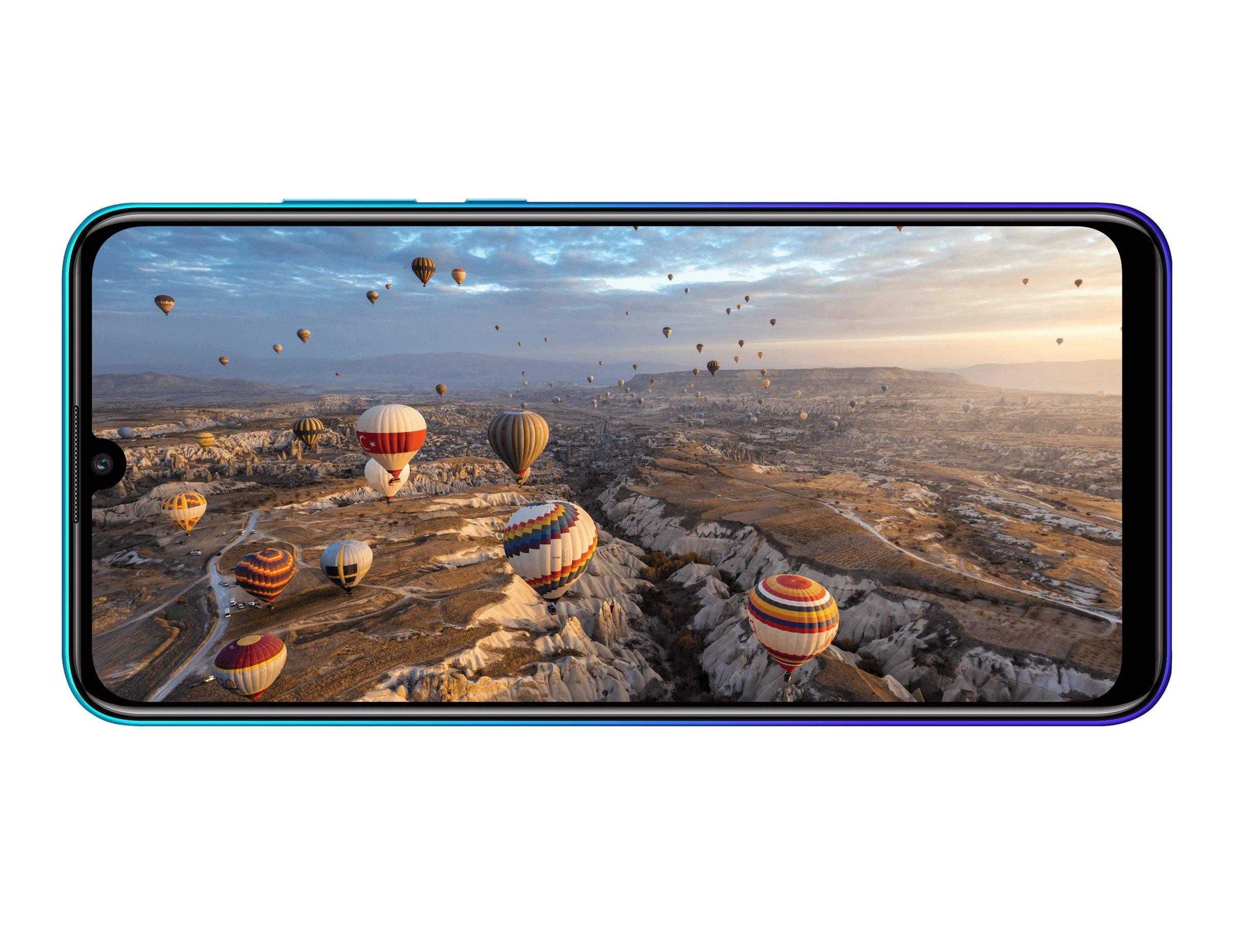 "Huawei P Smart 2020 - Smartphone - Dual-SIM - 4G LTE - 128 GB - microSD slot - 6.21"" - 2340 x 1080 Pixel (415 ppi (Pixel pro Zol"