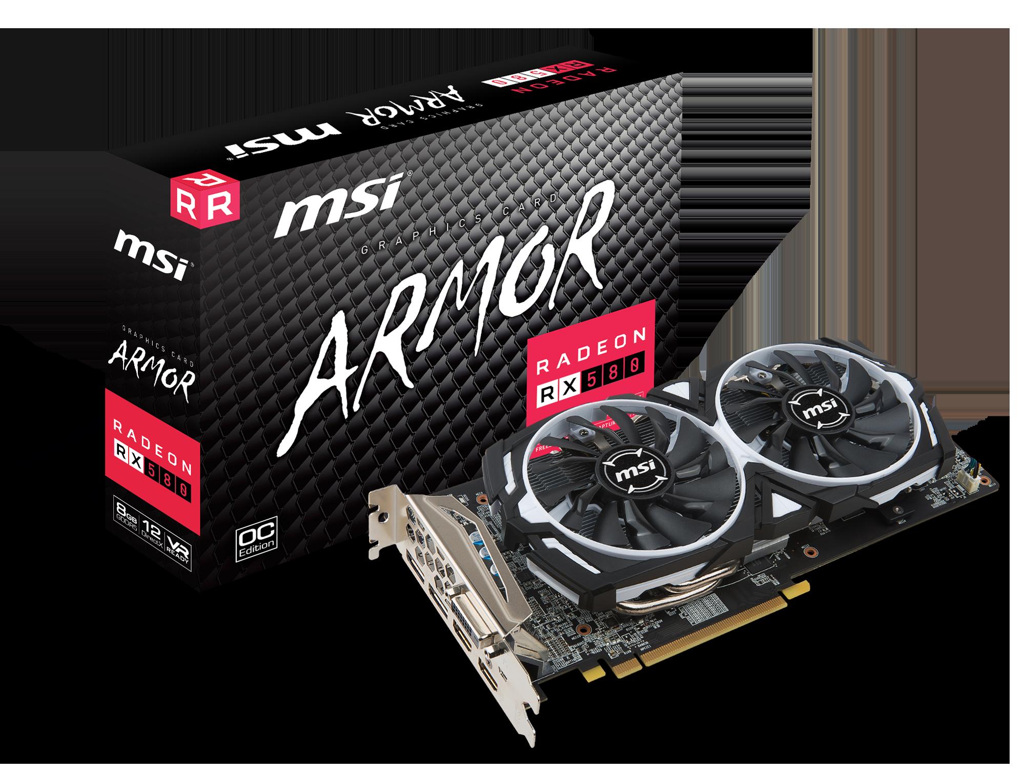 MSI RX 580 ARMOR 8G OC - Grafikkarten