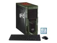 Military Gaming 5687 3.2GHz i7-8700 Schwarz - Grün PC