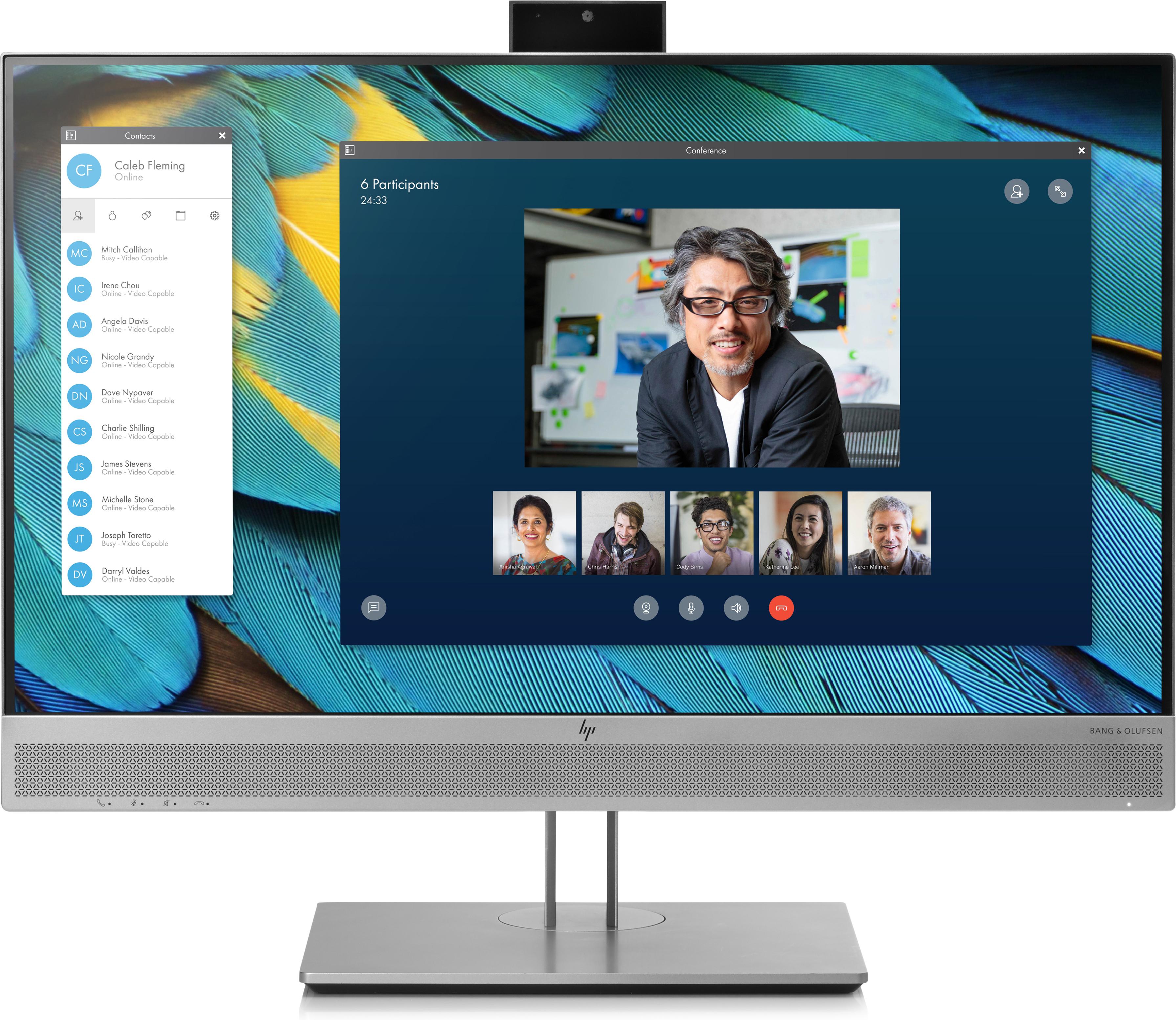 HP EliteDisplay E243m 23.8Zoll Full HD IPS Schwarz - Silber Computerbildschirm
