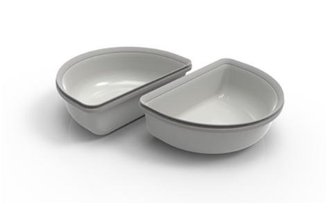 Segula 70963 - Universal - Kunststoff - Grau - Haustier-Fütterungsschale - Einfarbig - 0,2 l