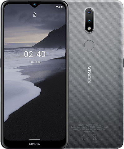 Nokia 2.4 - 16,5 cm (6.5 Zoll) - 3 GB - 32 GB - 13 MP - Android 10.0 - Holzkohle