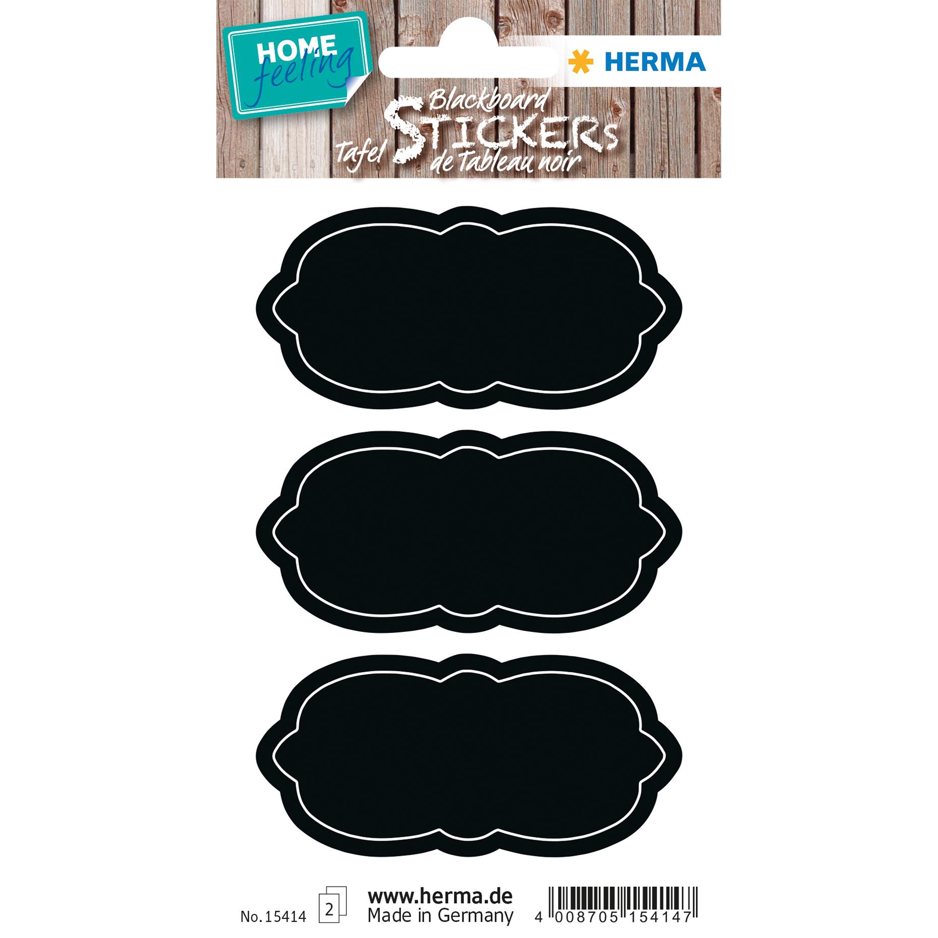 HERMA 15414 - Schwarz - Dauerhaft - Papier - 4 Stück(e) - Sichtverpackung