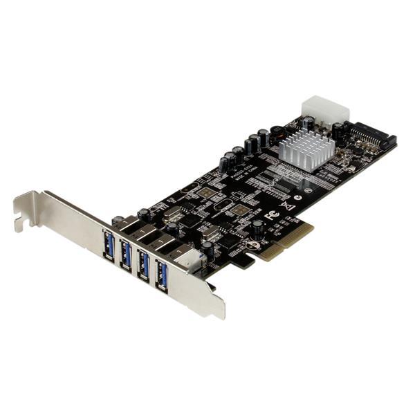 StarTech.com 4 Port USB 3.0 SuperSpeed PCI Express Schnittstellenkarte mit 2 5Gb/s Kanälen und UASP