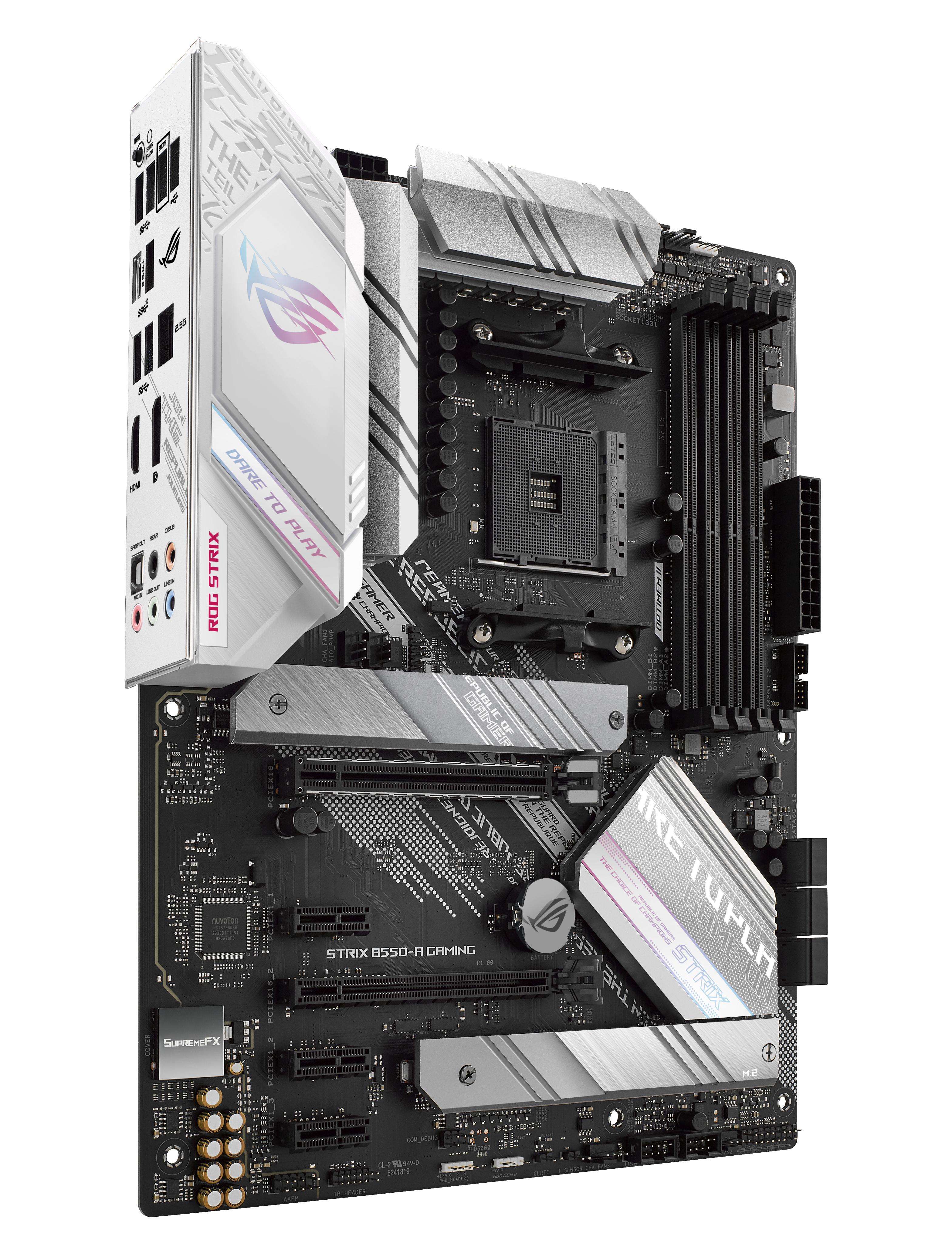 ASUS ROG STRIX B550-A GAMING - Motherboard - ATX - Socket AM4 - AMD B550 - USB-C Gen2, USB 3.2 Gen 1, USB 3.2 Gen 2 - 2.5 Gigabit LAN - Onboard-Grafik (CPU erforderlich)