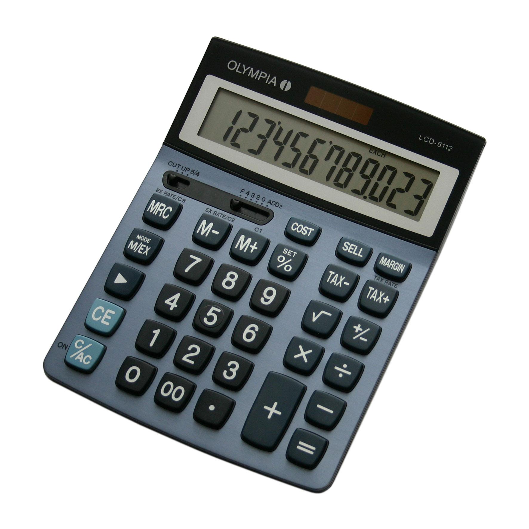 Olympia LCD 6112 - Desktop - Einfacher Taschenrechner - 12 Ziffern - 1 Zeilen