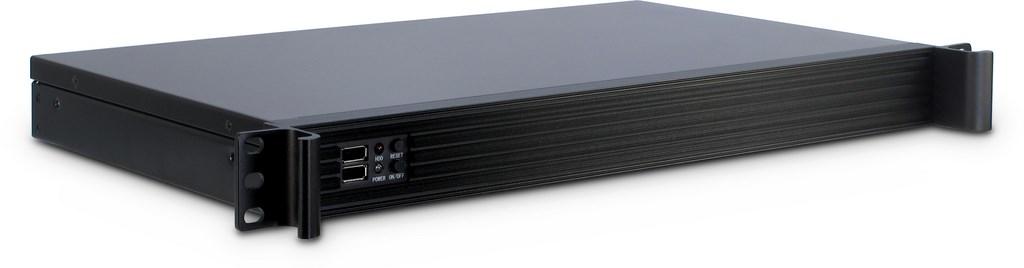 Inter-Tech IPC-K-126L - Rack - Server - Stahl - Schwarz - Mini-ITX - 1U