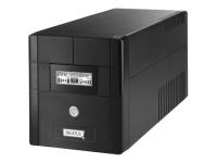 Line-Interactive 1000VA Line-Interaktiv 1000VA 4AC-Ausgänge Kompakt Schwarz Unterbrechungsfreie Stromversorgung (UPS)