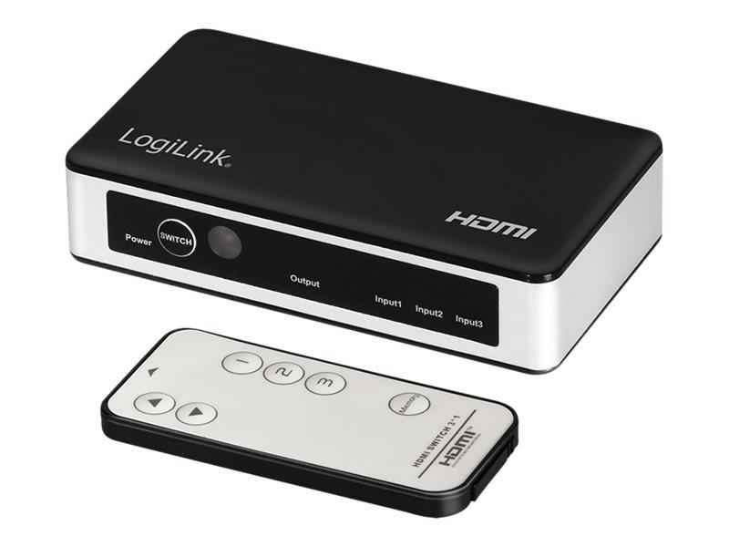 LogiLink Video/Audio-Schalter - 3 x HDMI