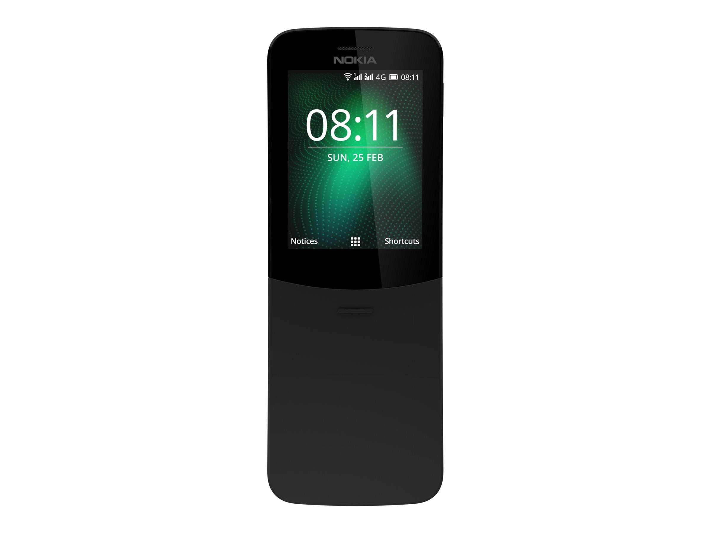 Nokia 8110 4G 2.45Zoll Dual SIM 4G 0.5GB 4GB 1500mAh Schwarz