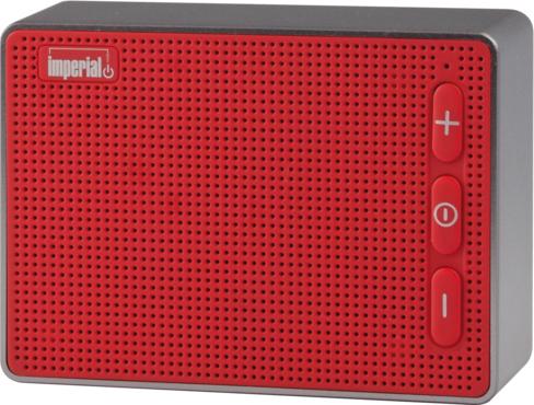 Imperial BAS 2 Mono portable speaker 3W Rot - Silber