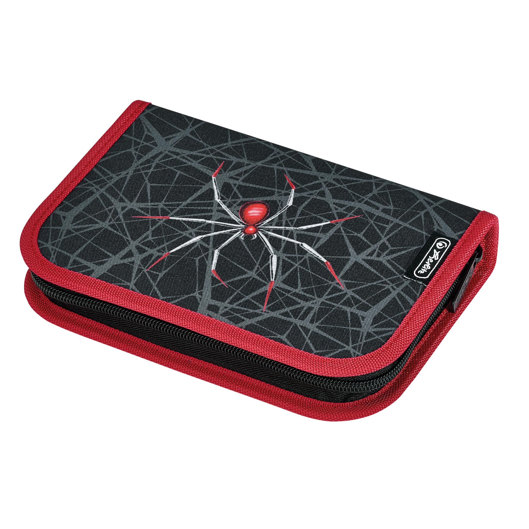 Herlitz 50033010 - Federmäppchen - Spider - Schwarz - Rot - Polyester