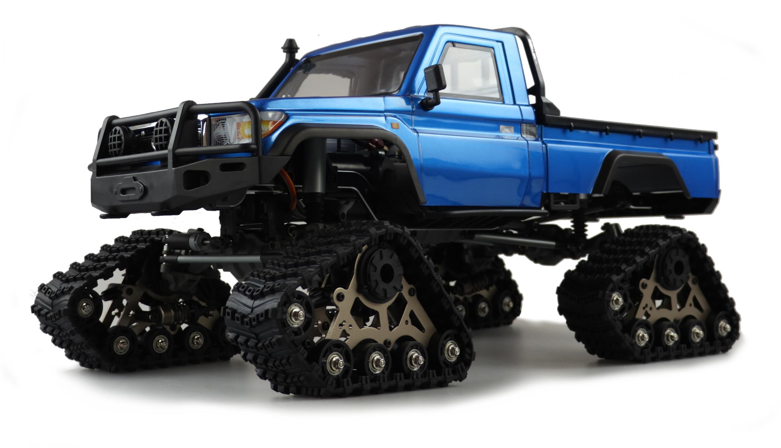 Amewi AMXROCK RCX10TB - Off-Road-Wagen - Elektromotor - 1:10 - Betriebsbereit (RTR) - Blau - Metall