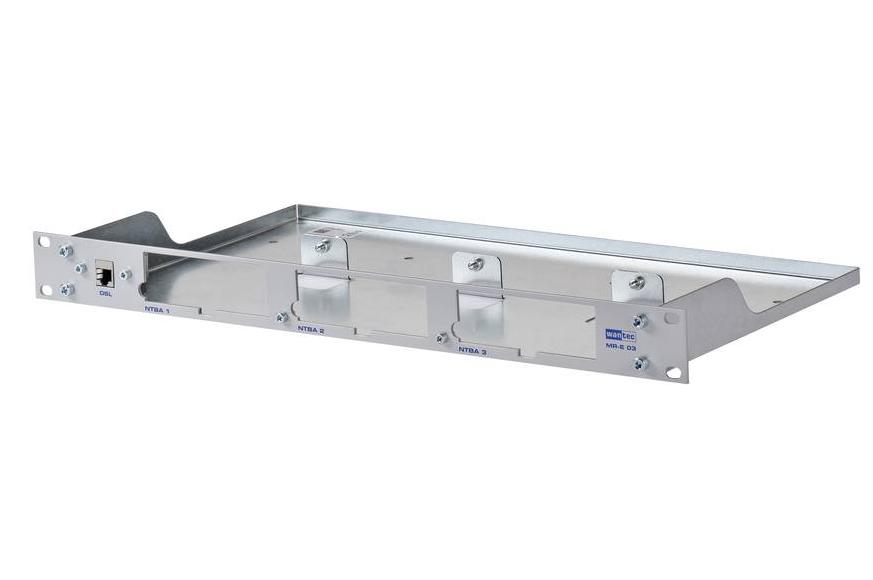 WANTEC 2018 - Silber - Metall - Rackeinbau - 1U - 482,6 mm - 44,5 mm