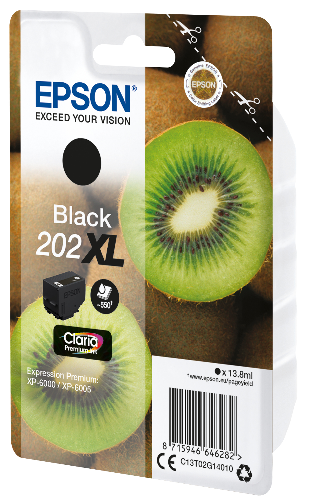 Epson-C13T02G14020-Kiwi-Singlepack-Black-202XL-Claria-Premium-Ink-Original thumbnail 3