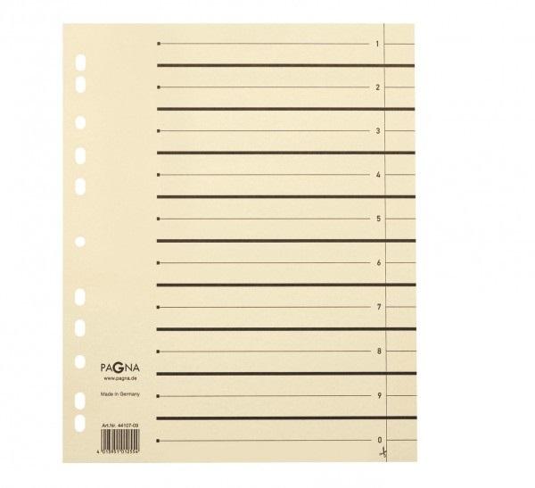 Pagna Trennblätter - Beige - Karton - DIN A4 - 240 mm - 300 mm - 10 Stück(e)