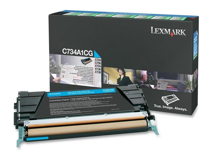 Lexmark C734A1CG Laser cartridge 6000Seiten Cyan Lasertoner / Patrone