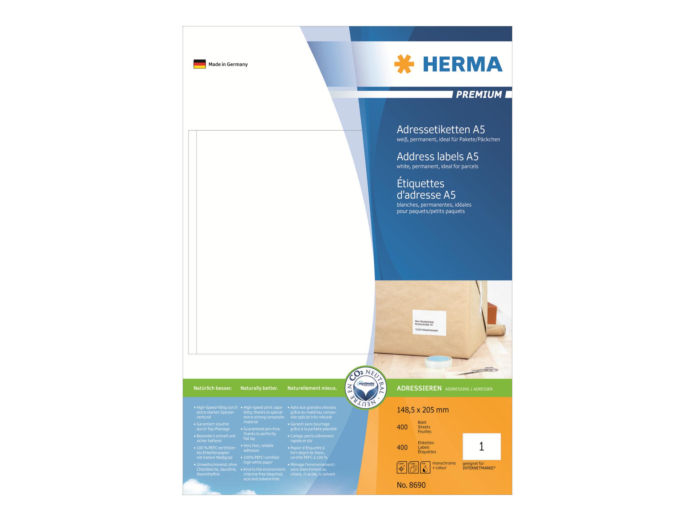 HERMA Premium - Papier - matt - permanent selbstklebend
