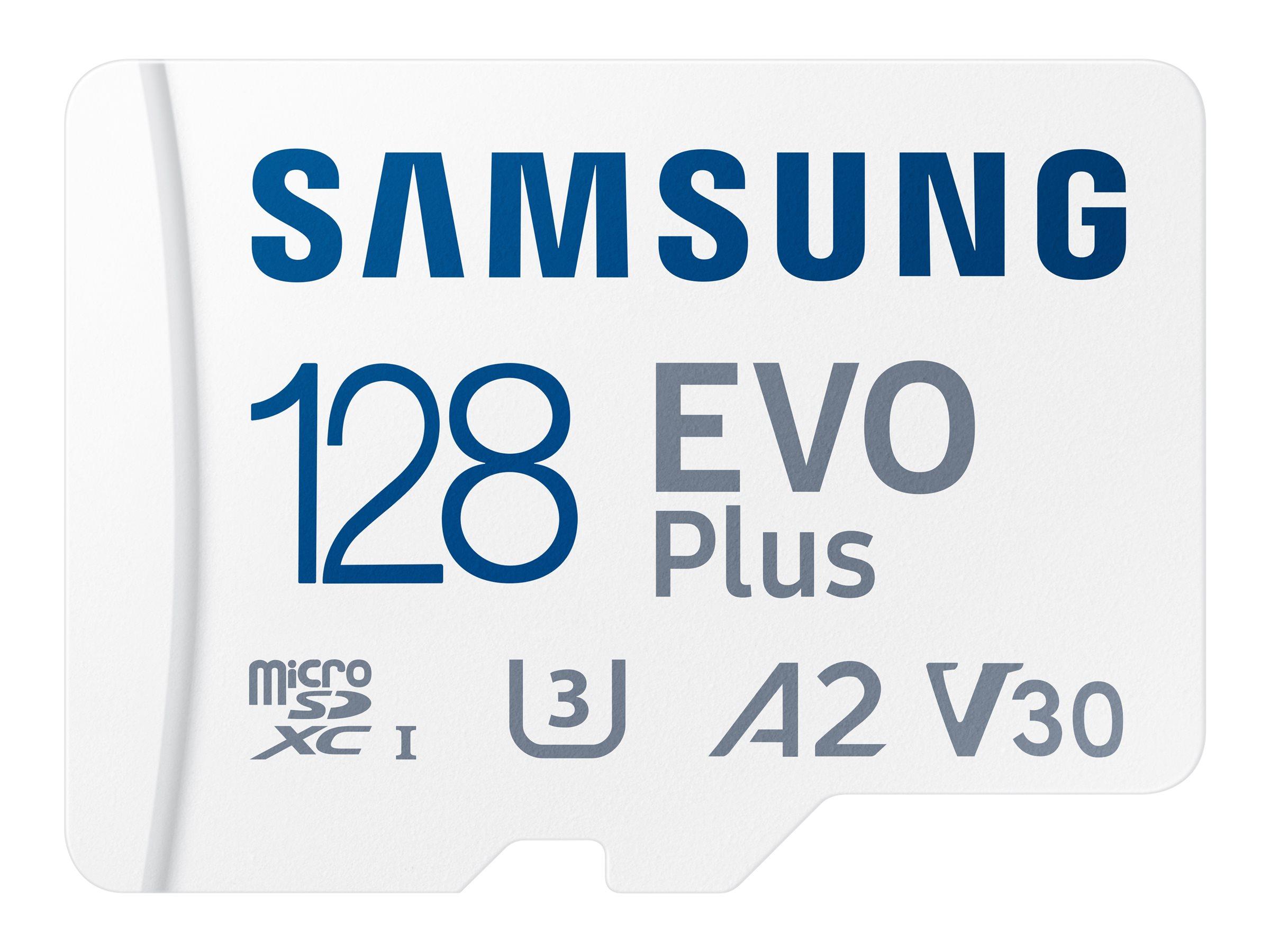 Samsung EVO Plus MB-MC128KA - Flash-Speicherkarte (microSDXC-an-SD-Adapter inbegriffen)