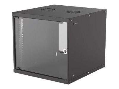 """Intellinet """"19"""" Basic Wallmount Cabinet, 9U, 560mm Deep, IP20-Rated Housing, Max 50kg, Flatpack, Black """" - Gehäuse - geeignet für Wandmontage - Schwarz, RAL 9005 - 9U - 48.3 cm (19"""")"""