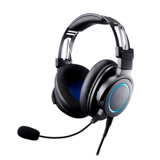 Audio-Technica ATH-G1 - Kopfhörer - Kopfband - Gaming - Schwarz - Blau - Binaural - Drehregler