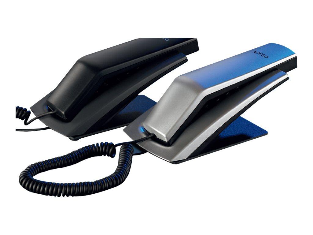 AGFEO T 11 - Telefon mit Schnur - Silber