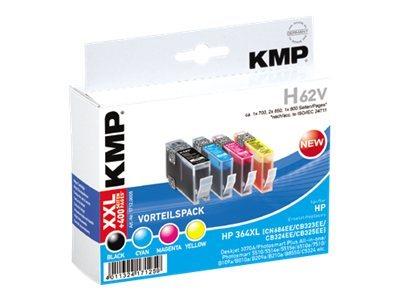 KMP H62V - 4er-Pack - Schwarz, Gelb, Cyan, Magenta