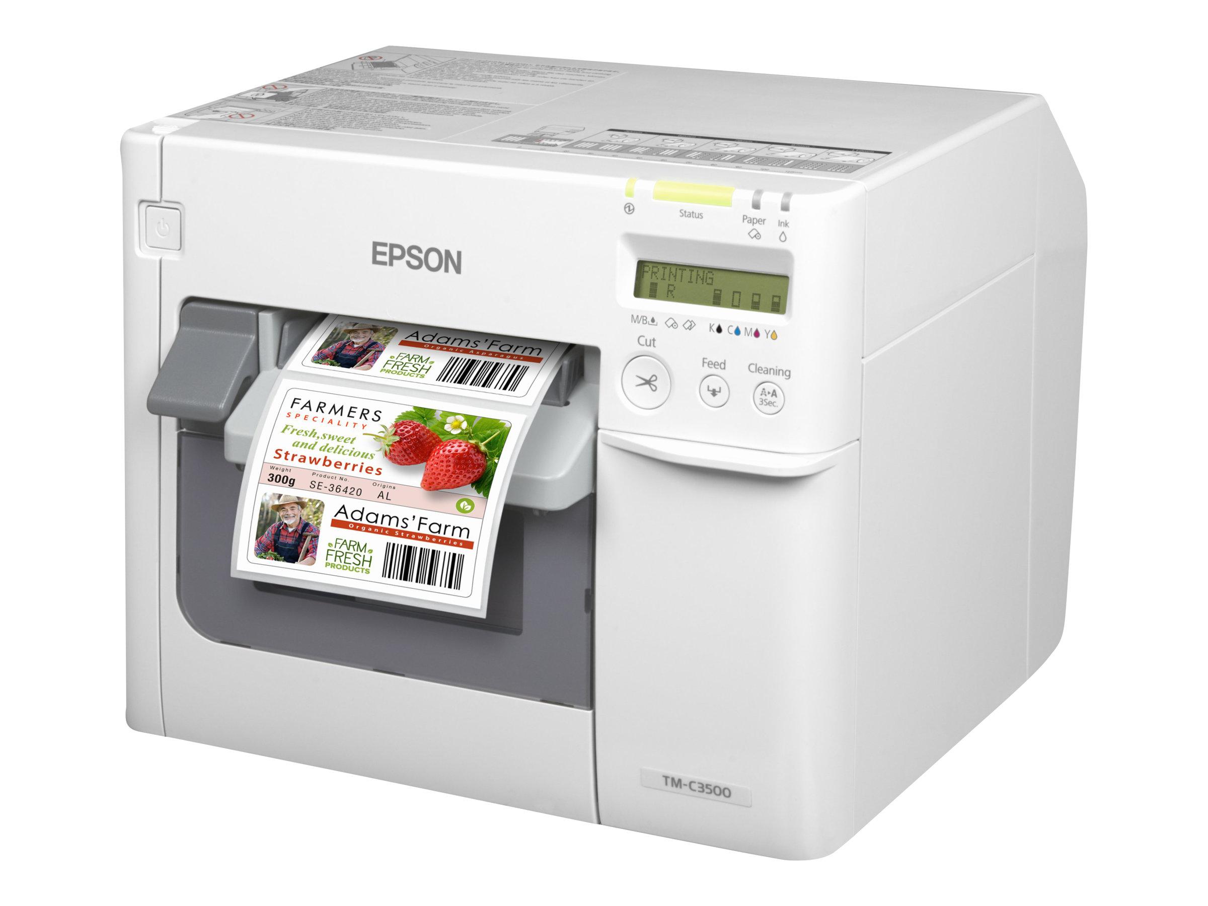 Epson TM C3500 - Etikettendrucker - Farbe - Tintenstrahl - 112 mm (Breite)