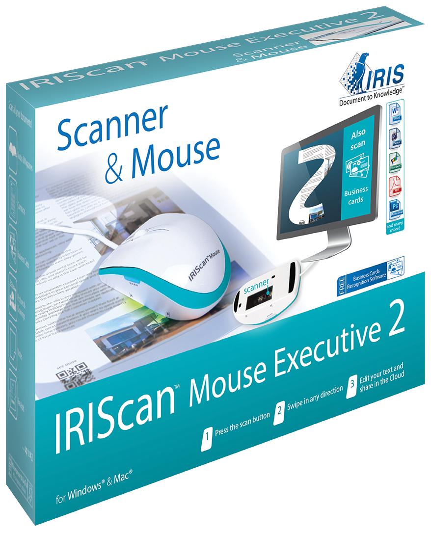 IRIS IRISCan Mouse Executive 2 Mouse scanner 300 x 300DPI A3 Blau - Weiß